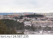 Купить «Город Трёхгорный. Вид с вершины горы Поповка.», фото № 24587235, снято 3 декабря 2016 г. (c) Александр Цуркан / Фотобанк Лори