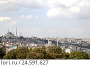 Купить «Turkey, Istanbul, cityscape, view, city, architecture, houses, mosques, towers, minarets, domes, city, buildings, tourism, outdoors, travel, Asia, Europe,», фото № 24591627, снято 21 августа 2018 г. (c) mauritius images / Фотобанк Лори