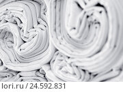 Купить «Laundry, bedclothes, substance, folds, white,», фото № 24592831, снято 16 ноября 2007 г. (c) mauritius images / Фотобанк Лори