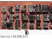 Купить «Moscow, new virgin's cemetery, public figure's cemetery,», фото № 24596511, снято 15 апреля 2011 г. (c) mauritius images / Фотобанк Лори