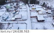 Купить «Зима в деревне, подъем камеры», видеоролик № 24638163, снято 26 ноября 2016 г. (c) Кекяляйнен Андрей / Фотобанк Лори