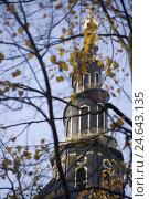 Купить «Denmark, Copenhagen, Vor Frelsers Kirke, detail, steeple, autumn,», фото № 24643135, снято 15 августа 2018 г. (c) mauritius images / Фотобанк Лори