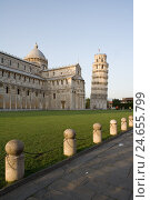 Купить «Italy, Tuscany, Pisa, Piazza dei Miracoli, cathedral, Campanile, 'oblique tower'», фото № 24655799, снято 16 января 2008 г. (c) mauritius images / Фотобанк Лори