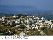 Купить «Greece, Crete, Kamilari, houses, village, hillside situation,», фото № 24660027, снято 15 июня 2011 г. (c) mauritius images / Фотобанк Лори