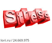 Купить «Stress, red, white background, word, letter, 3-D, effect, character font, unhealthily, idea, conception, nobody, Frei's plate,», фото № 24669975, снято 17 июля 2018 г. (c) mauritius images / Фотобанк Лори