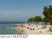 Купить «Croatia, Kvarner bay, Crikvenica, town beach,», фото № 24673627, снято 15 сентября 2011 г. (c) mauritius images / Фотобанк Лори