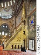 Купить «Turkey, Istanbul, Sultanahmed, Sultan-Ahmet-Camii, blue mosque, inside, sermon pulpit, Minbar,», фото № 24674843, снято 15 мая 2011 г. (c) mauritius images / Фотобанк Лори