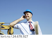 Купить «Men at work, architect, call up, portrait,», фото № 24678927, снято 4 февраля 2008 г. (c) mauritius images / Фотобанк Лори