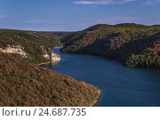 Купить «Croatia, Istria, Adriatic Coast, Vrsar, Limski channel with loo glaucoma,», фото № 24687735, снято 16 июля 2018 г. (c) mauritius images / Фотобанк Лори