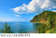 Купить «Байкал. Мыс Маритуй», фото № 24690815, снято 29 июля 2016 г. (c) Виктор Никитин / Фотобанк Лори