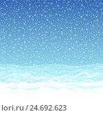 Бесшовный зимний фон. Стоковая иллюстрация, иллюстратор elena_a / Фотобанк Лори