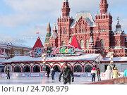 Купить «ГУМ-каток на Красной площади. Новогодние праздники в Москве», эксклюзивное фото № 24708979, снято 15 декабря 2016 г. (c) Илюхина Наталья / Фотобанк Лори