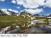 Красивое горное озеро на Камчатке, фото № 24716199, снято 21 июня 2016 г. (c) А. А. Пирагис / Фотобанк Лори