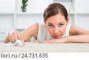 Купить «woman sitting lonely indoors», фото № 24731635, снято 7 декабря 2019 г. (c) Яков Филимонов / Фотобанк Лори