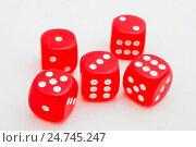 Купить «Игральные кубики», фото № 24745247, снято 18 мая 2012 г. (c) Олег Жуков / Фотобанк Лори