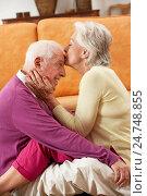 Купить «Romantic Senior Couple Relaxing At Home», фото № 24748855, снято 22 июля 2012 г. (c) easy Fotostock / Фотобанк Лори