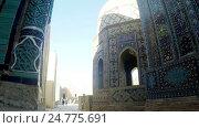 Купить «Shah-I-Zinda memorial complex, necropolis in Samarkand, Uzbekistan. UNESCO World Heritage», видеоролик № 24775691, снято 25 декабря 2009 г. (c) Куликов Константин / Фотобанк Лори