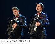 Купить «Братья-аккордеонисты Кирилл и Константин Бондаренко», фото № 24780151, снято 28 июня 2014 г. (c) Free Wind / Фотобанк Лори