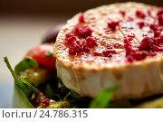 Купить «close up of goat cheese salad with vegetables», фото № 24786315, снято 22 сентября 2016 г. (c) Syda Productions / Фотобанк Лори