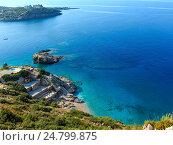 Купить «Summer Ionian sea coast, Albania.», фото № 24799875, снято 12 июля 2016 г. (c) Юрий Брыкайло / Фотобанк Лори