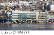 Петропавловск-Камчатский морской вокзал, видеоролик № 24804871, снято 31 декабря 2016 г. (c) А. А. Пирагис / Фотобанк Лори