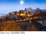 Купить «Night view of Cuenca», фото № 24806935, снято 9 декабря 2014 г. (c) Яков Филимонов / Фотобанк Лори