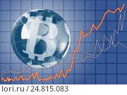 Купить «The concept of e-commerce growth rate. Cryptocurrency Bitcoin.», фото № 24815083, снято 5 января 2017 г. (c) Александр Якимов / Фотобанк Лори