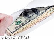 Доллары в конверте. Стоковое фото, фотограф Левончук Юрий / Фотобанк Лори