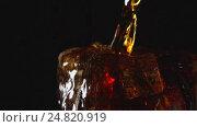 Купить «SLOW: A cola drink are pouring in glass with ice on a black background», видеоролик № 24820919, снято 16 апреля 2016 г. (c) Евгений Киблер / Фотобанк Лори
