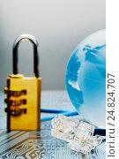 Купить «The concept of the World Wide Web. Security network.», фото № 24824707, снято 6 января 2017 г. (c) Александр Якимов / Фотобанк Лори