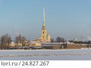 Санкт-Петербург, Петропавловская крепость зимой (2017 год). Стоковое фото, фотограф Семёнов Марк / Фотобанк Лори