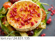 Купить «close up of goat cheese salad with vegetables», фото № 24831135, снято 22 сентября 2016 г. (c) Syda Productions / Фотобанк Лори