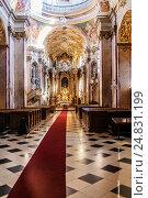 Купить «Interior of Pilgrimage Church of Virgin Mary», фото № 24831199, снято 3 октября 2014 г. (c) BestPhotoStudio / Фотобанк Лори
