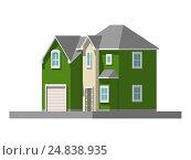 Image of a private house. vector illustration. Стоковая иллюстрация, иллюстратор Алексей Плескач / Фотобанк Лори