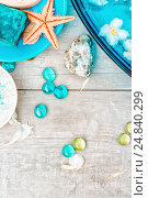 Pastel Background With Spa Accessories. Стоковое фото, фотограф Светлана Сухорукова / Фотобанк Лори