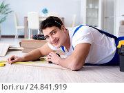 Купить «May laying laminate flooring at home», фото № 24841919, снято 28 ноября 2016 г. (c) Elnur / Фотобанк Лори