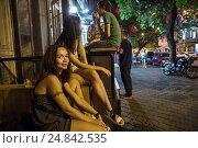 Купить «Odessa, Ukraine, young people from Kiev make a few days holiday in Odessa», фото № 24842535, снято 21 августа 2016 г. (c) Caro Photoagency / Фотобанк Лори