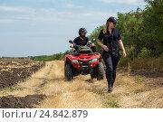 Купить «Tudora, Republic of Moldova, Border police Politia de Frontiera at the green border», фото № 24842879, снято 30 августа 2016 г. (c) Caro Photoagency / Фотобанк Лори
