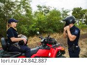 Купить «Tudora, Republic of Moldova, Border police Politia de Frontiera at the green border», фото № 24842887, снято 30 августа 2016 г. (c) Caro Photoagency / Фотобанк Лори