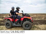 Купить «Tudora, Republic of Moldova, Border police Politia de Frontiera at the green border», фото № 24842891, снято 30 августа 2016 г. (c) Caro Photoagency / Фотобанк Лори