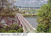 Вид на Канавинский мост. Нижний Новгород. Стоковое фото, фотограф Александр Басов / Фотобанк Лори