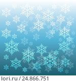 Фон из снежинок. Стоковая иллюстрация, иллюстратор Римма Тельнова / Фотобанк Лори