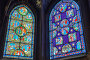 PARIS, FRANCE - JULY 06, 2016 : Stained glass inside Saint-Germain l'Auxerrois Church, near Louvre. It's construction in Roman, Gothic and Renaissance styles Paris. France., фото № 24873219, снято 6 июля 2016 г. (c) Vitas / Фотобанк Лори