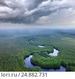 Forest plain with river, фото № 24882731, снято 5 июля 2011 г. (c) Владимир Мельников / Фотобанк Лори