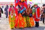 Ряженые участницы масленцы, эксклюзивное фото № 24883907, снято 12 марта 2016 г. (c) Иван Карпов / Фотобанк Лори