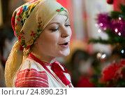 Женщина поет. Редакционное фото, фотограф Лазаренко Светлана / Фотобанк Лори