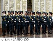 Купить «Солдаты роты почётного караула», фото № 24890855, снято 23 июля 2014 г. (c) Free Wind / Фотобанк Лори