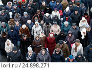 Толпа людей (2017 год). Редакционное фото, фотограф Лазаренко Светлана / Фотобанк Лори