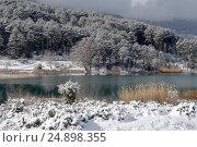 Купить «Горное озеро Фенеос (горная Коринфия, Греция)», фото № 24898355, снято 8 января 2017 г. (c) Татьяна Ляпи / Фотобанк Лори