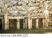 Купить «Ggantija neolithic temples», фото № 24900227, снято 18 декабря 2010 г. (c) Яков Филимонов / Фотобанк Лори